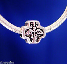RN Nurse Nursing Hospital Medical Silver European Charm Bead fit for bracelet