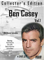 Ben Casey-20 Classic Episodes -4 DVD -R Set-Starring Vince Edwards-Volume ONE