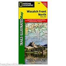National Geographic UT Wasatch Front North Strawberry Trails Illustrated Map 709
