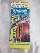 VINTAGE 1970'S LAKESIDE AMUSEMENT PARK TRI-FOLD PAMPHLET, DENVER, CO
