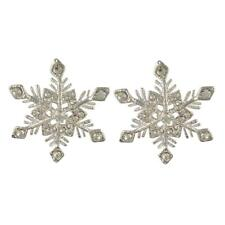 CRYSTAL CLEAR WINTER CHRISTMAS SNOWFLAKE EARRINGS MADE WITH SWAROVSKI ELEMENTS