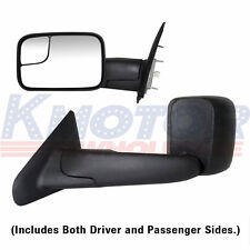 Towing Mirrors Power Heated Tow Side Mirror Pair Set For 02-08 Dodge Ram Pickup