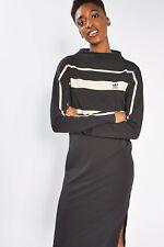 adidas Originals W Contrast Stripes Black Long Maxi Dress Sizes (674) UK 10 EU 36 US S