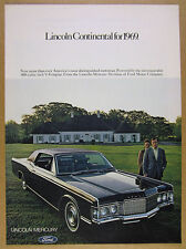 1968 Lincoln Continental Hardtop 2-door black car photo vintage print Ad