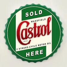 CASTROL 2 tempi Olio Motore Retro Tappo Muro Firmare Vintage-Bar Garage