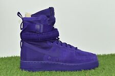 New Nike SF AF1 Air Force 1 Size 9 One High Boot Purple 864024 500