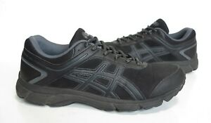 Ladies ASICS Gel-MISSION Triple Black Trainers Size UK 7.5 Great Cond