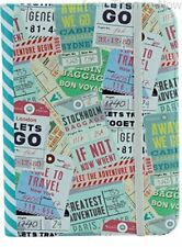 Chic Shabby Kindle & Touch E-Reader Vintage Travel Luggage Tag Design Case