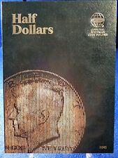 Whitman Half Dollars Plain (No Dates) Coin Folder. Album Book #9045