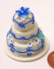 1:12 Scale 3 Tier Decorated Wedding Cake Dolls House Miniature Food Accessory O