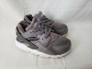 Nike Huarache Run Toddler Gray Shoes Sneakers Size 8c