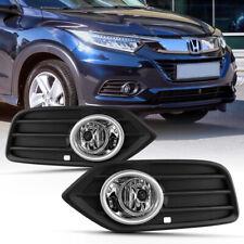 For 2019+ Honda HR-V HRV Fog Light Bumper Lamp Bezel Mount+Wiring Harness+Switch
