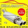 FRIEDRICH MOTORSPORT V2A SPORTAUSPUFF 76MM Audi A5 Cabrio +Quattro B8 2.0 TDI