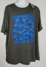 Adidas Go To Performance Tee Blue Camo Gray Climalite T-Shirt Mens Sz 2XL