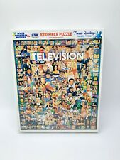 White Mountain Puzzle Television History 1000 pieces 2014 NEW #270S