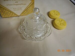Vintage Avon Butter Dish & 2 Hostess Fragranced Soap