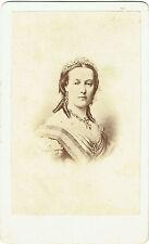 Photo cdv ; Portrait de Marie-Henriette , Reine des Belges , vers 1865