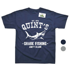 Quints Shark Fishing Inspired by Jaws Movie Printed T-Shirt - 2 Colours