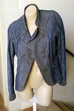 veste vintage denim bleu et rayures grises JAQUELINE RIU taille 4 (40/42)