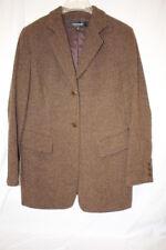 EMANUEL UNGARO Brown Tweed Style Wool Blend Blazer Womens, 40/US 6 Korea-B126