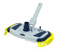 In-Ground & Above Ground Swimming Pool Weighted Vacuum Head w/ Side Brushes