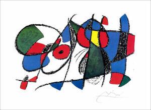 JOAN MIRO Vol II Litho VIII Facsimile Signed Offset Lithograph 17-1/2 x 24