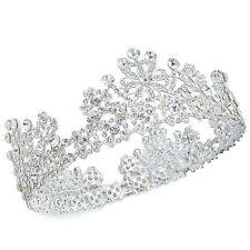 TQA74 Clear Rhinestone Crystal Alloy Snowflake Tiara Bridal Wedding Queen Crown