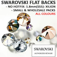 Genuine Swarovski® Flat Back Crystals Rhinestones 1.8mm SS5 NON HOTFIX Colours