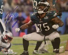 Vinny Curry Autograph Signed Philadelphia Eagles 8x10 Photo JSA Witness COA