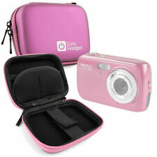 Durable Hard EVA Pink Case For Vivitar S126 Compact Digital Camera w/ Belt Clip