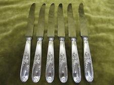6 couteaux à dessert métal argenté Orbrille mod LXV (dessert knives) bis