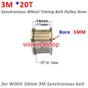 HTD3M-20 3M GT2-20 Teeth 5MM Timing Belt Pulley Synchronous Wheel DIY 3D Printer