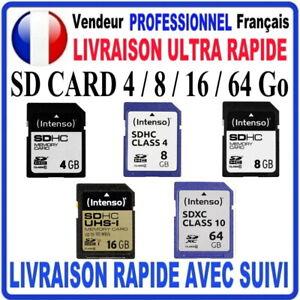 SD CARD CARTE SD 4 go / 8 go / 16 go / 64 go SDHC / SDXC SD CARD INTENSO