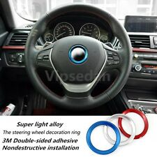 1Pcs Red Ring Magnesium Alloy Car Steering Wheel Center Decoration Ring For M M5