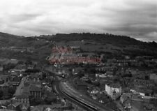 PHOTO  PONTYPRIDD RAILWAY STATION AND JUNCTION WITH AN UP FREIGHT PASSING THE ST