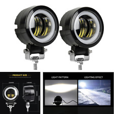 """2x 3"""" 12V 24V 6000K 20W Waterproof LED Lamp Round Off road Car Boat Work Lights"""