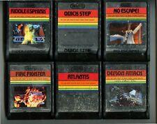 ATARI 2600 LOT OF 6 GAMES - GAMES ONLY - NO ESCAPE, QUICK STEP, ATLANTIS, +