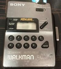 Vintage SONY WALKMAN WM-FX43 FM/AM STEREO CASSETTE PLAYER  AUTO REVERSE WORKING!