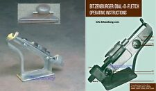 Tm Bitzenburger Straight Professional Carbon or Aluminum Arrow Fletching Jig