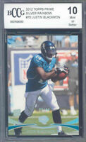 2012 topps prime silver rainbow #70 JUSTIN BLACKMON rookie BGS BCCG 10