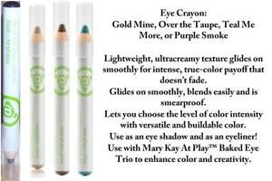Mary Kay At Play Eye Crayon, Gold, Taupe, Purple, or Teal