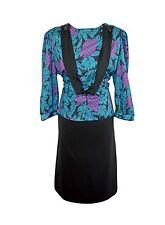 WOMEN'S/LADIES 1980'S VINTAGE CLOTHES, FORMAL SECRETARY DRESS, 12