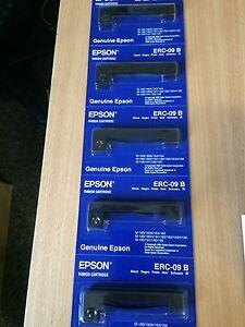 Original Epson ERC-09B Farbbänder schwarz 5 Stück