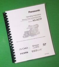 Panasonic AG-AC7P Video Camera 116 Page LASER PRINTED Owners Manual Guide