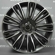 "GENUINE RANGE ROVER VELAR 22"" INCH GREY POLISHED STYLE 9007 ALLOY WHEELS X4"
