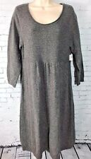 Old Navy Maternity Gray Knit Sweater Knit Woven Long Dress 3/4 Sleeve Large NWT