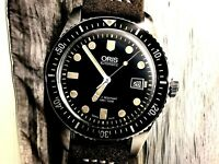 Vintage publicité ORIS montre vitrine diver watch plongeuse TOILE sub plongée p7
