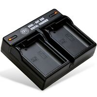 BM Premium EN-EL15 EL15A EL15B Dual Bay Battery Charger for Nikon Z6, Z7 Camera