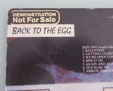 Paul McCartney / Wings ''Back To The Egg''--DEMONSTRATION--Beatles