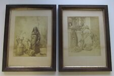 ANTIQUE ARAB/TURKISH WOMEN ALBUMEN PRINT PHOTOGRAPHS 19th CENTURY 1880s HOOKAH
